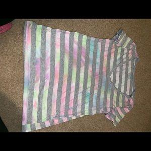 Nollie t shirt with tie dye stripes